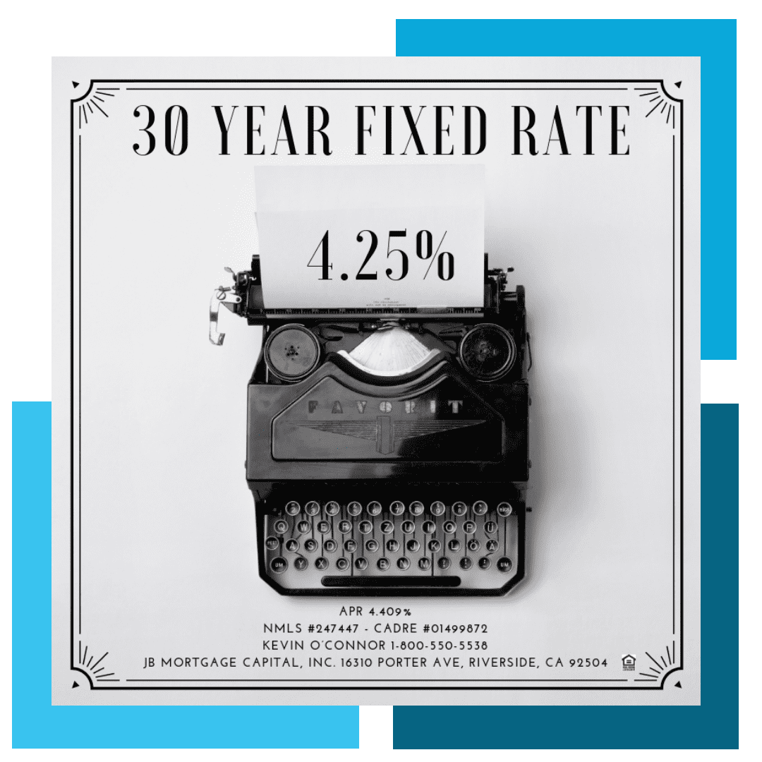 30 year fixed rate mortgage 4.25%