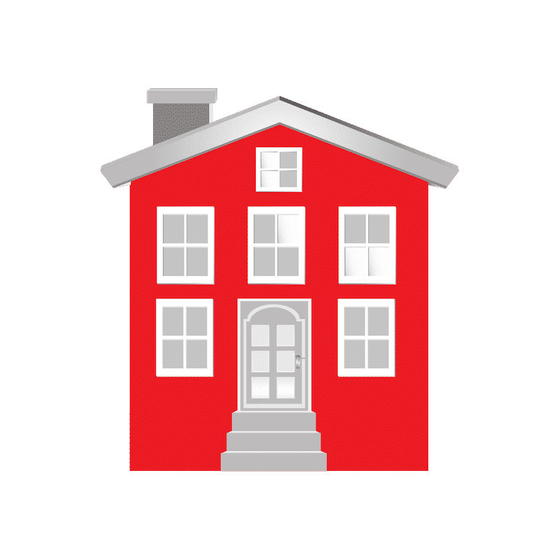 A red home
