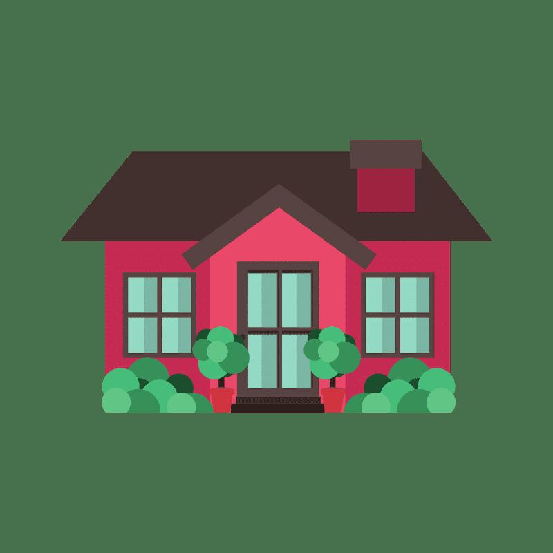 Nice Red Home