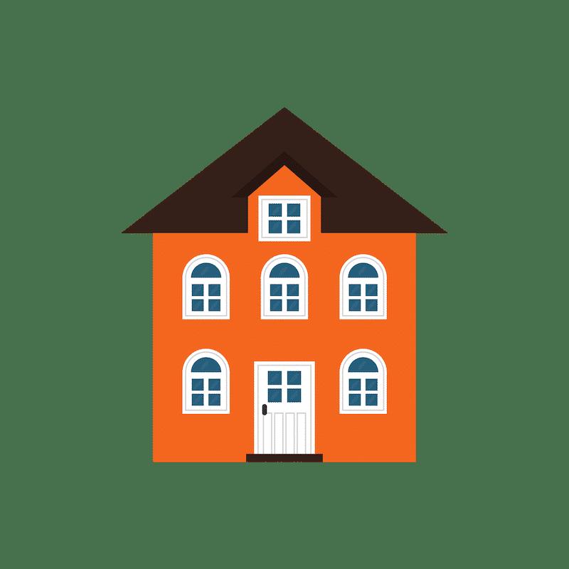 Tall Orange Home