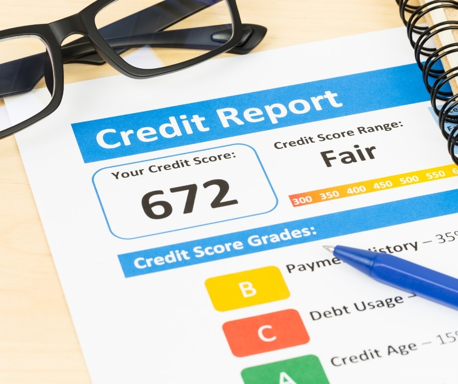 Less than perfect credit score