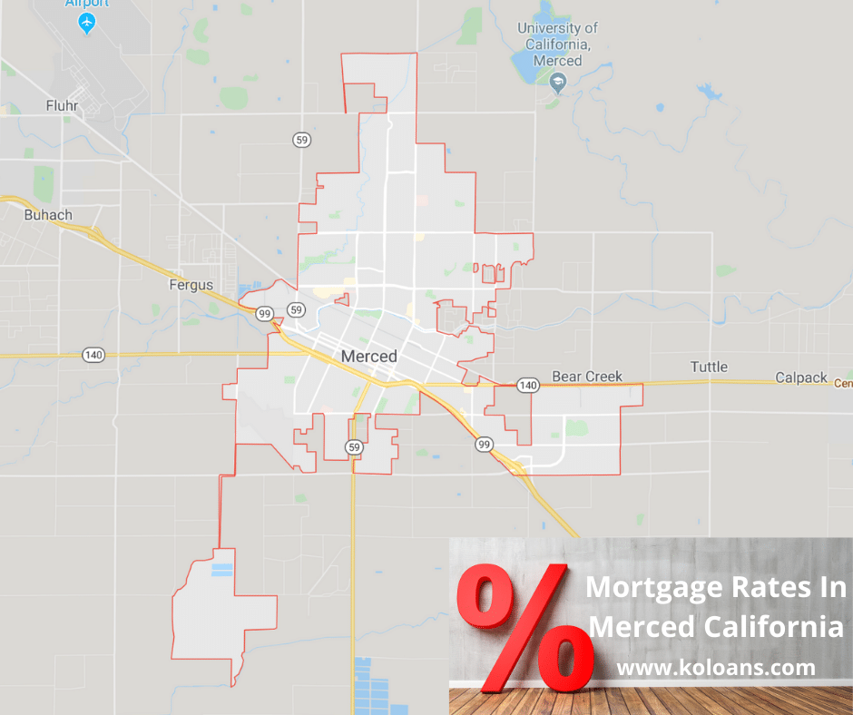 Mortgage rates in Merced California
