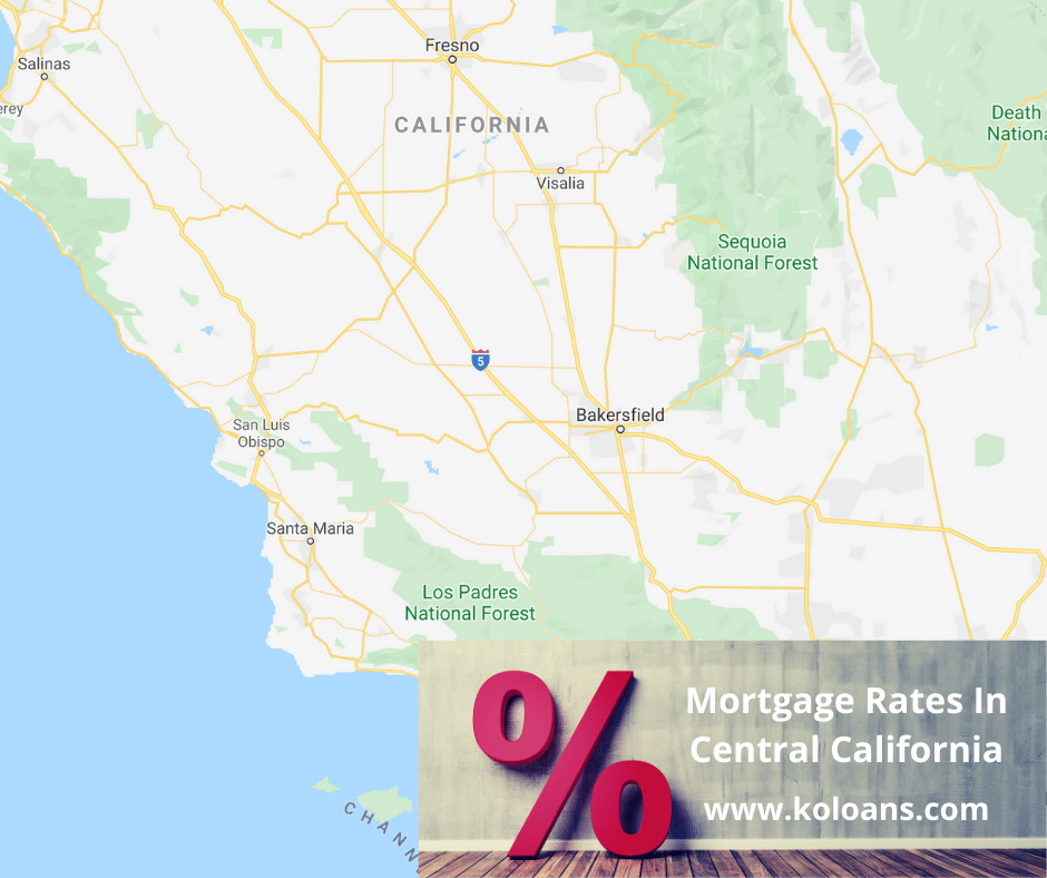 Mortgage rates in Central California