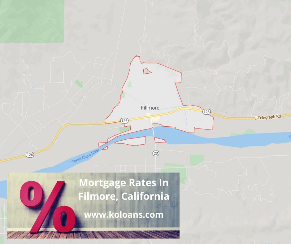 Mortgage rates in Filmore, California