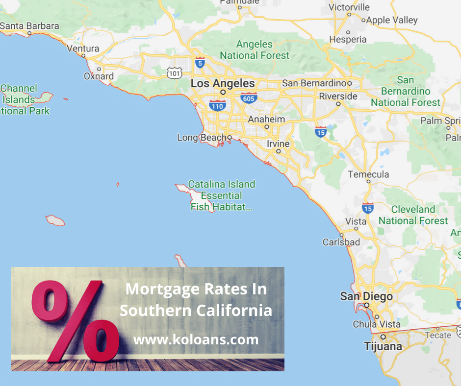 Mortgage rates in Southern California