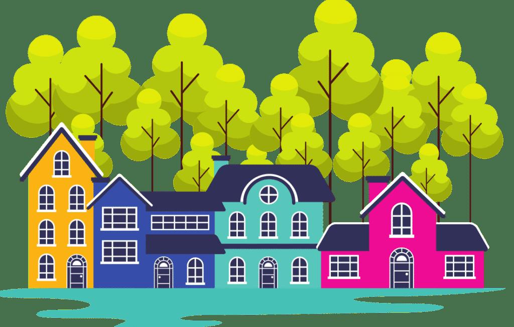 Neighborhood homes in California